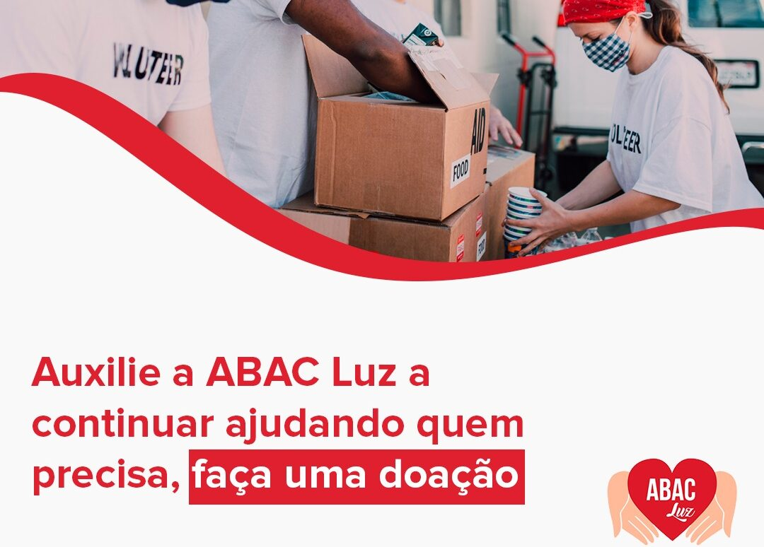 Auxilie a ABAC Luz a continuar ajudando quem precisa